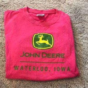 Girls size medium John Deere short sleeve shirt